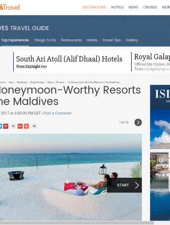 10 Honeymoon-Worthy Resorts in the Maldives