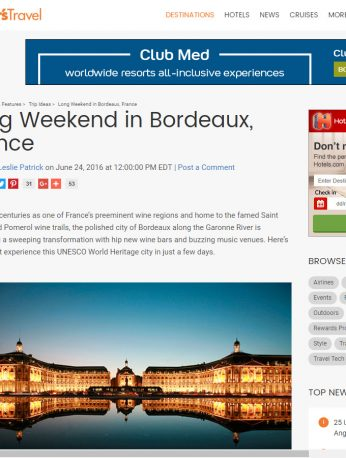 Long Weekend in Bordeaux France