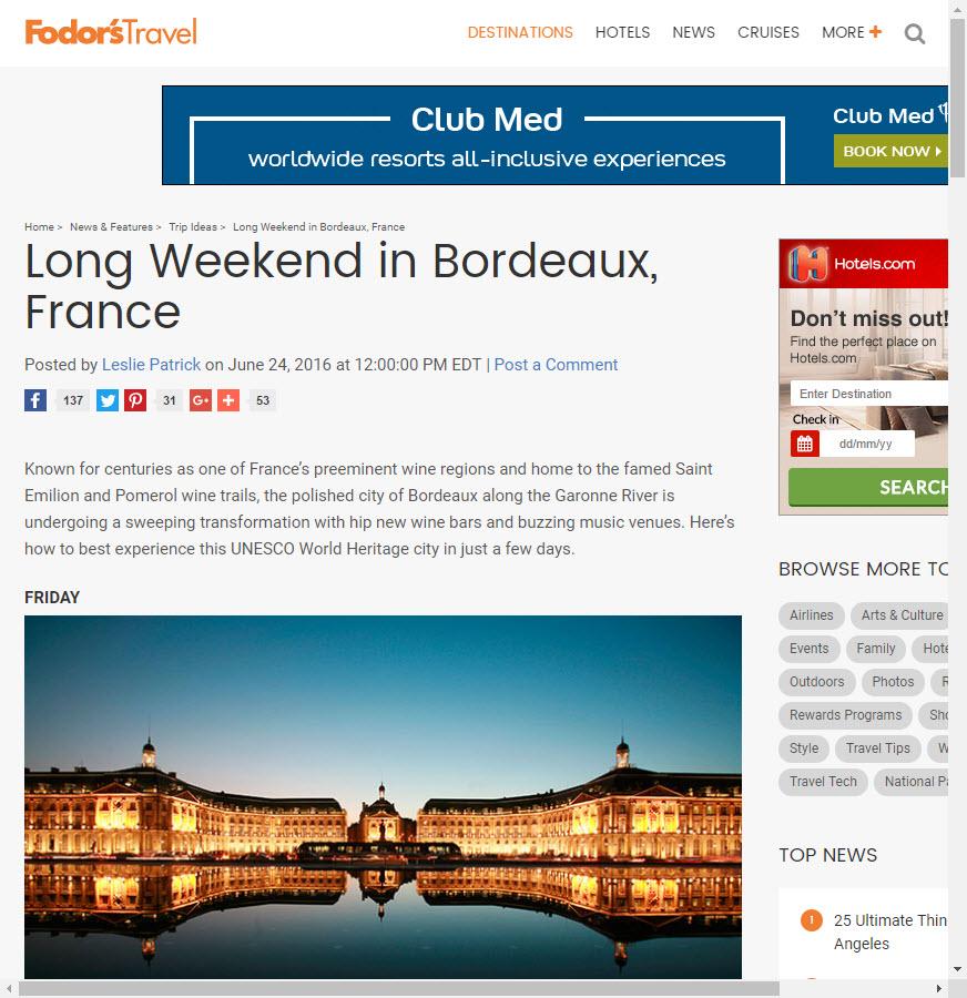 Long Weekend in Bordeaux France