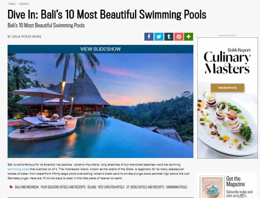 Dive In: Bali's 10 Most Beautiful Swimming Pools