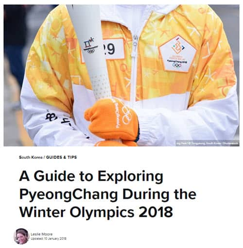 A Guide to Exploring PyeongChang During the Winter Olympics 2018